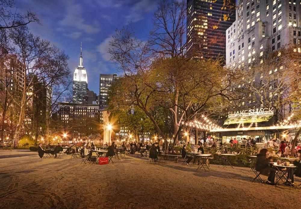 Madison Square Park at dusk