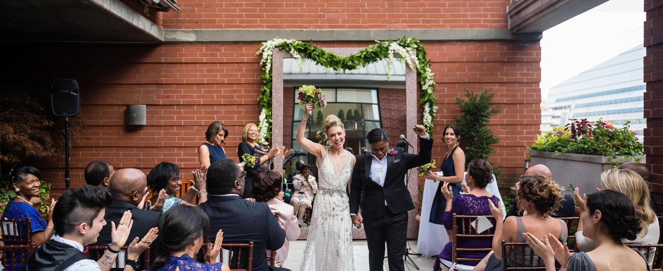 Our outdoor rooftop offers an intimate space for small wedding ceremonies.