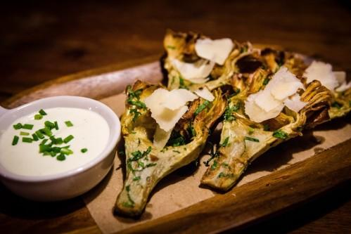 One of Bread & Tulips most popular appetizers is the FRIED ARTICHOKES in lemon-rosemary aioli