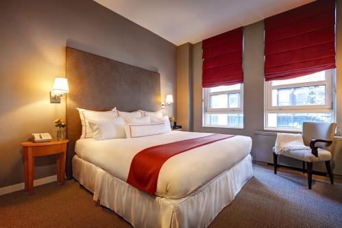 Hotel Giraffe Classic rooms have no Juliet Balcony but they do have everything you need to be comfortable.