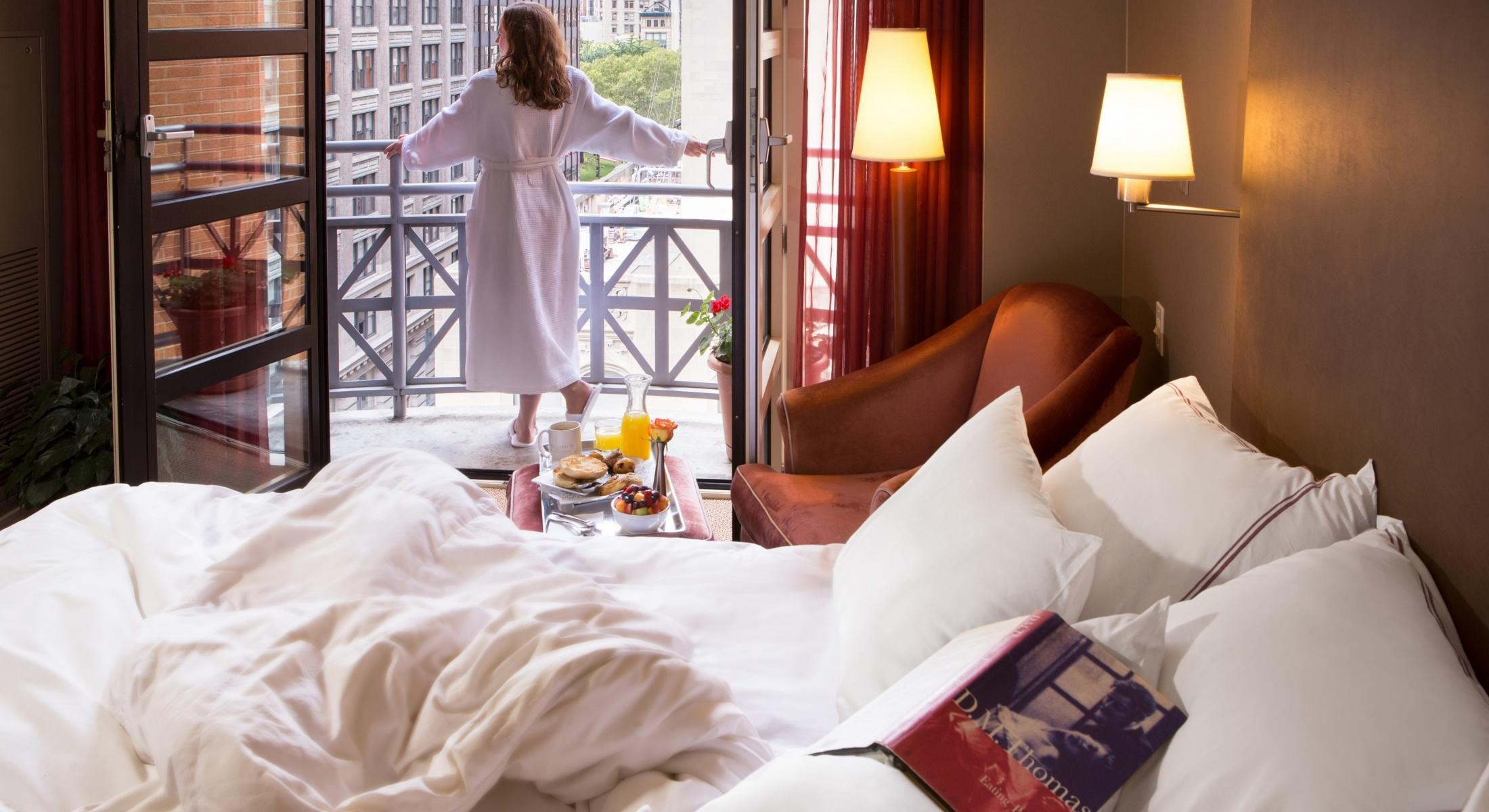 Each of our Balcony King Guestroom offers a Juliet balcony with views of Park Avenue South!