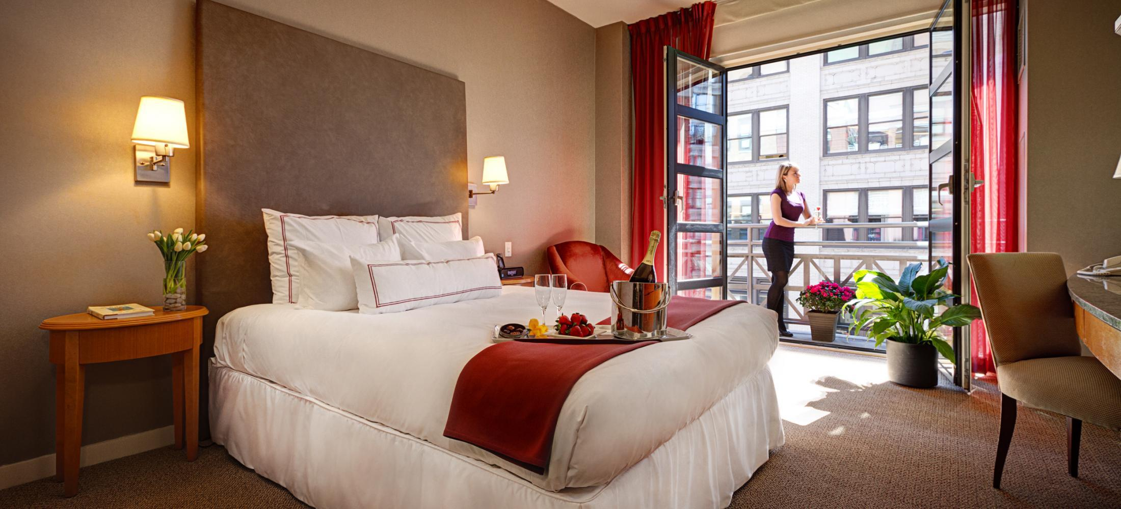 Our Guestroom with 1 Queen Bed is perfect for young couples who are ready to explore the city.